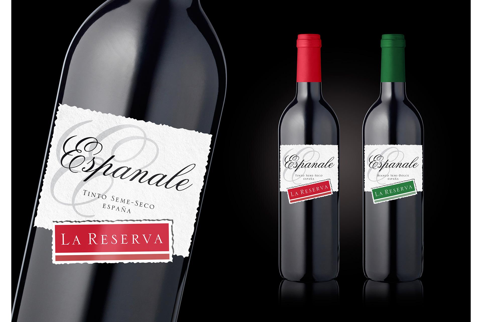Projekt etykiety wina Espanale