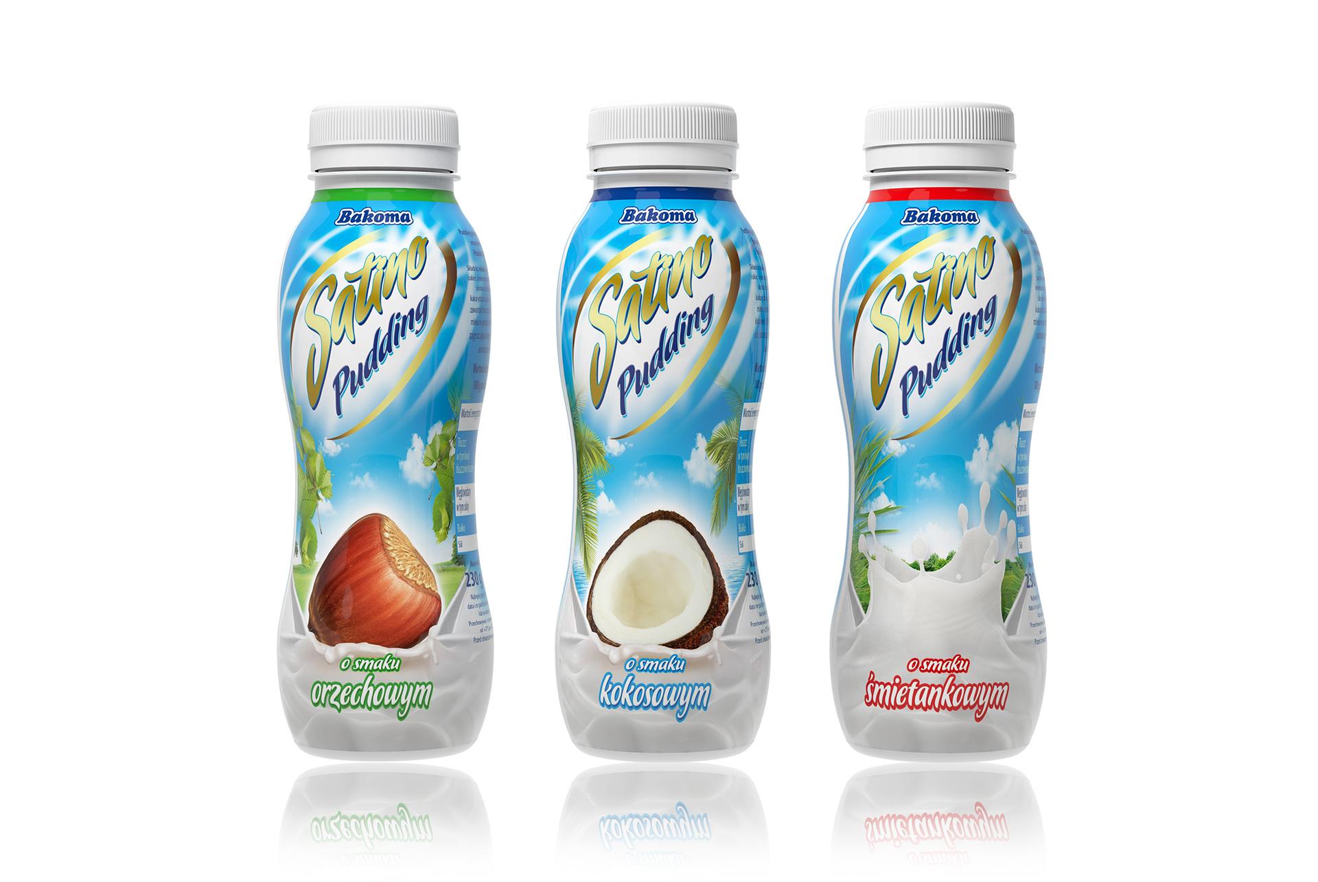 Bakoma Jogurt pitny projekt etykiety