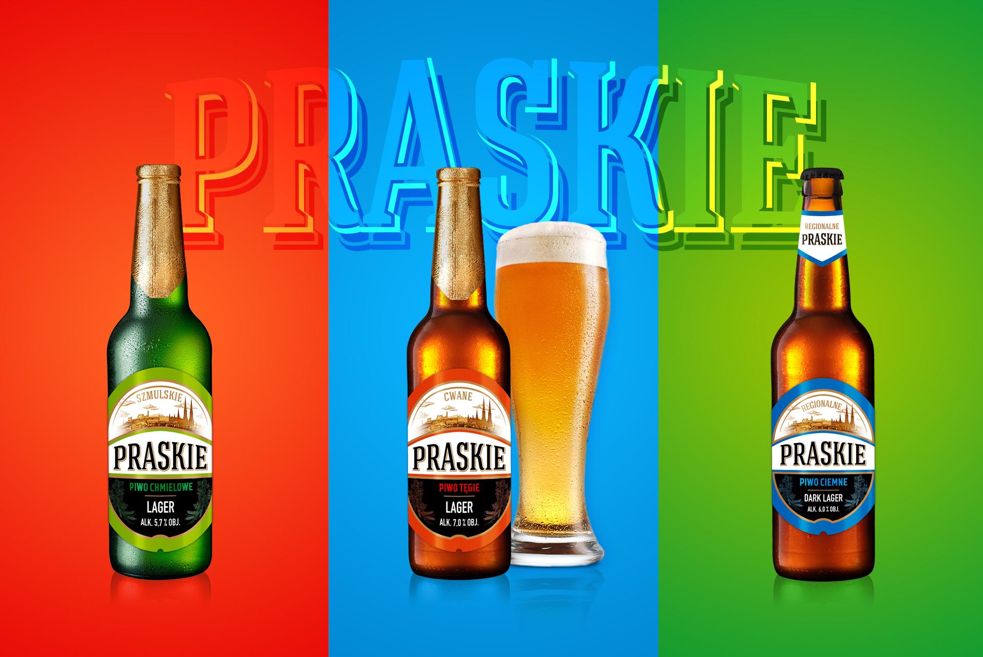 Piwo Praskie Regionalne Beer Range Label Design