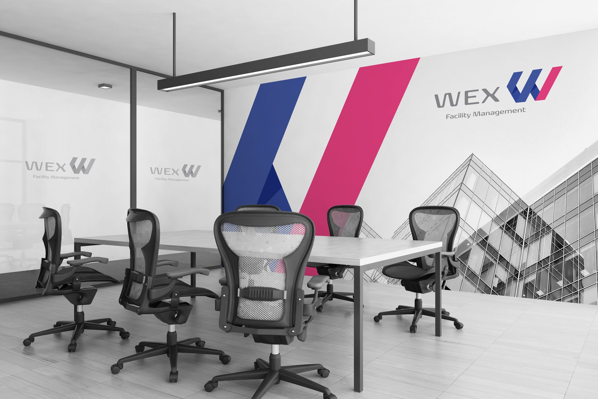 WEX Facility Management Room Wall Branding