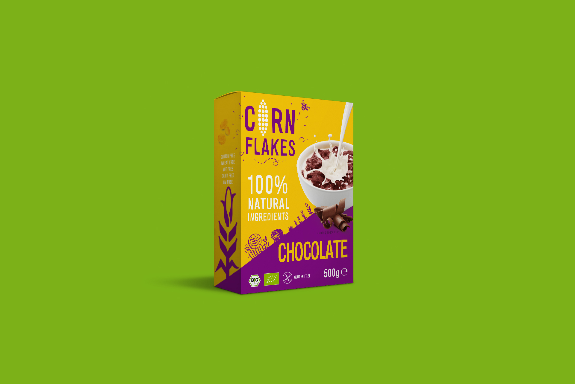 Corn Flakes Chocolate Packaging Design