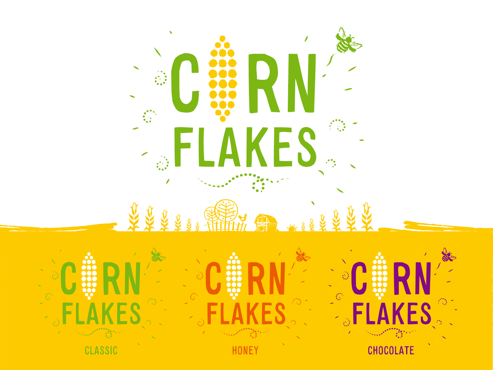 Corn Flakes Logo Design