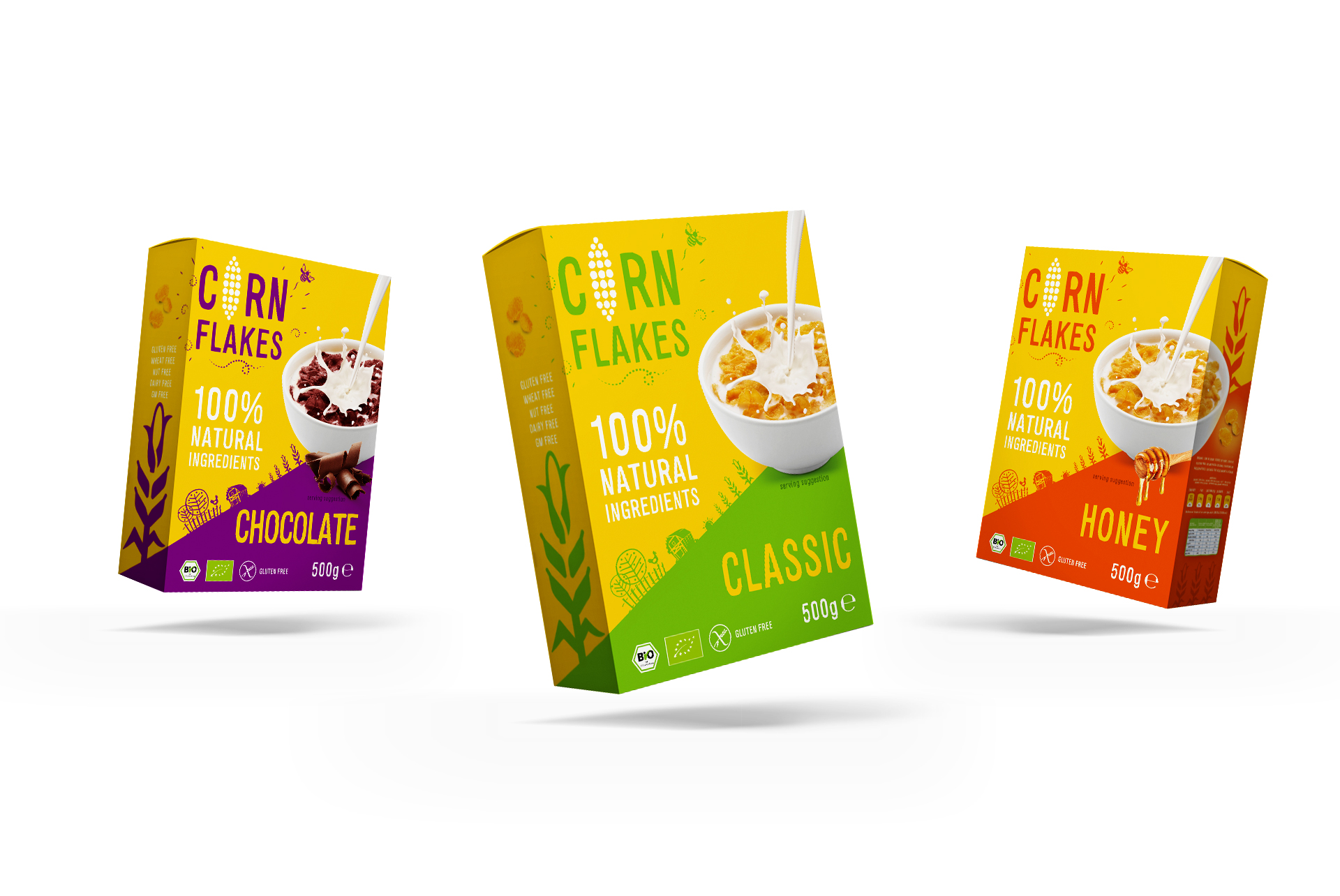 Corn Flakes Packaging Design Logo