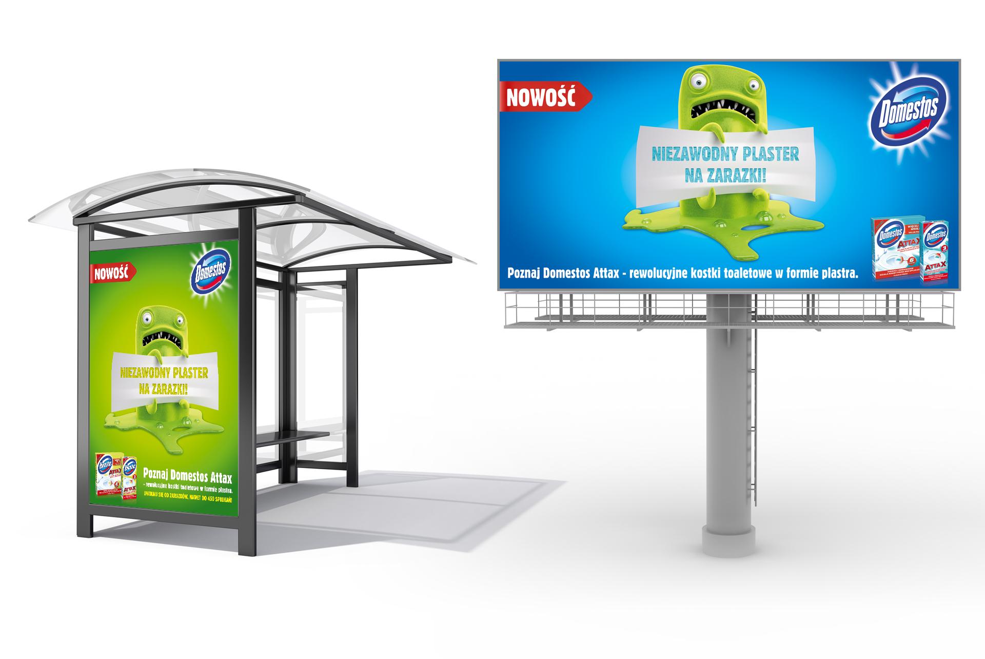 Domestos Attax Poster & Billboard