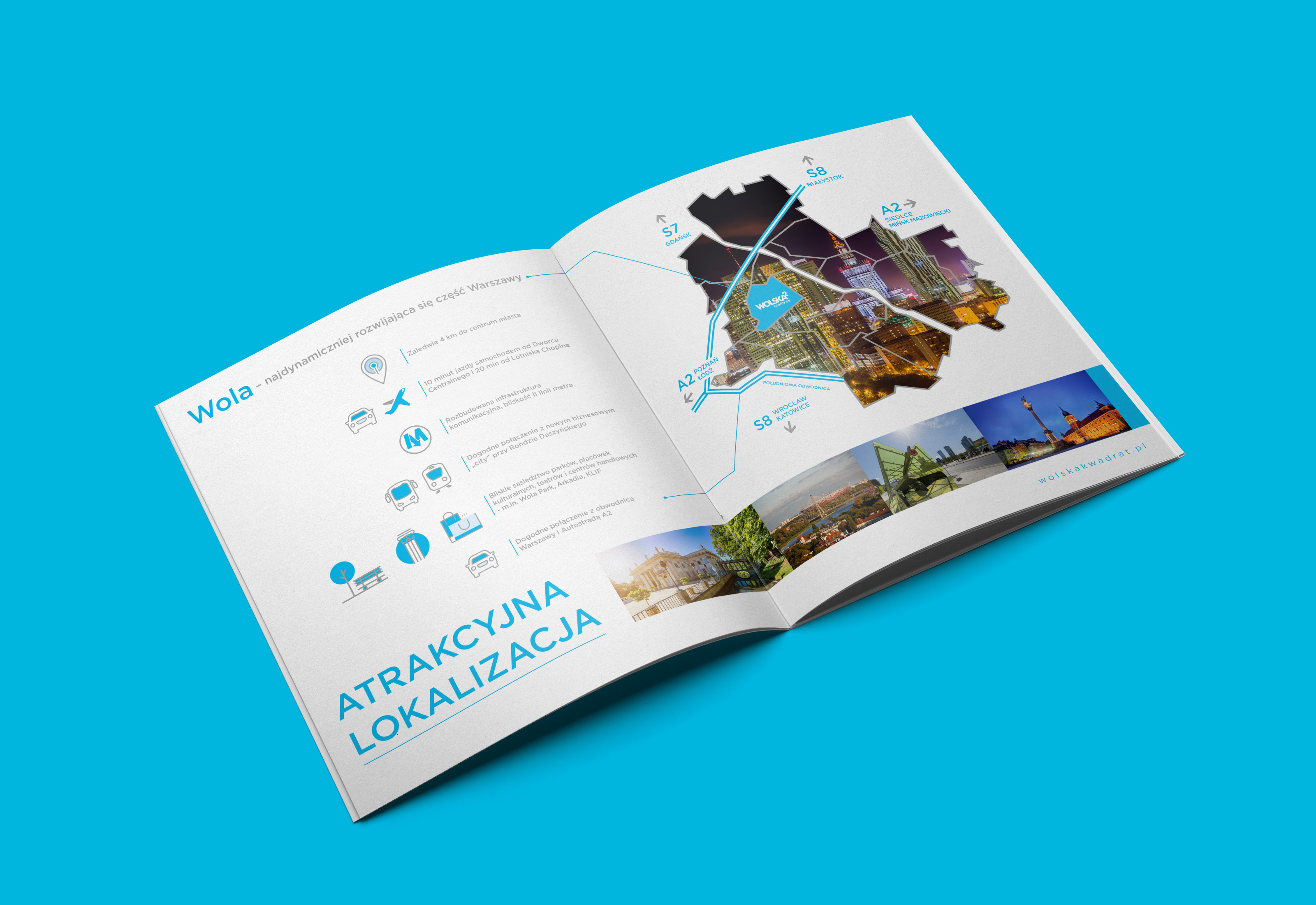 Folder Inwestycji WolskaKwadrat Brochure Design