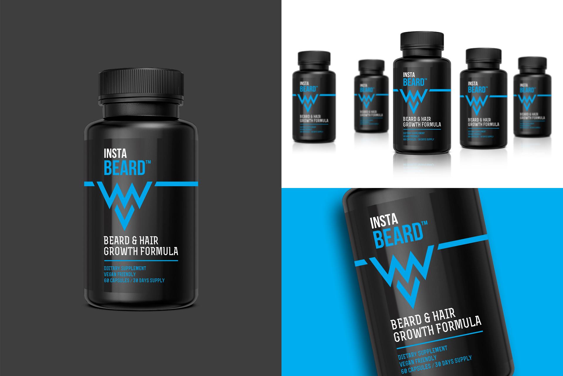 Label Supplement Packaging Design Instabeard