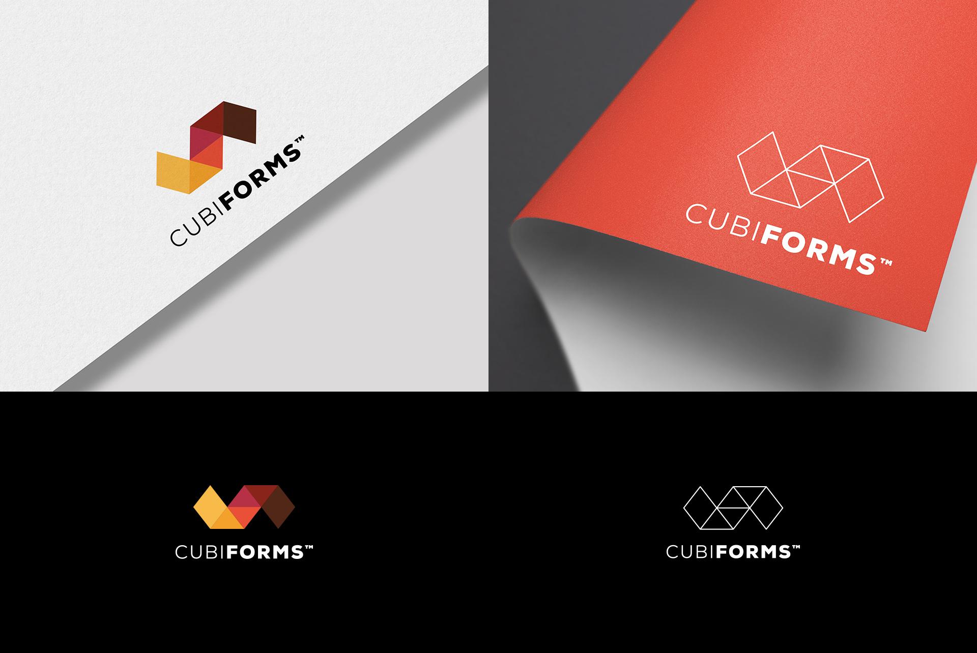 CubiForms Logo Geometric Branding