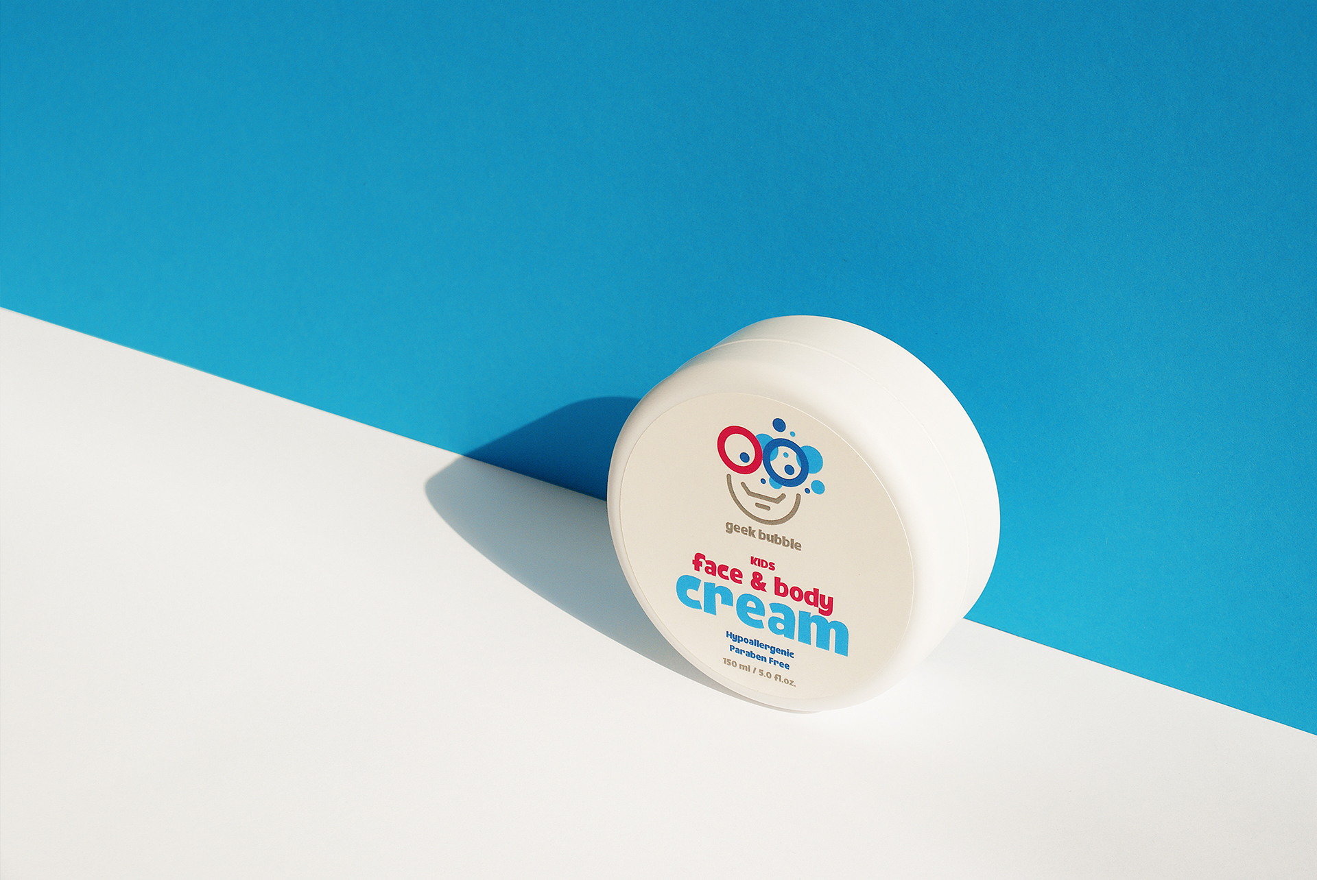 Packaging Design Face & Body Cream Kids Geek Bubble