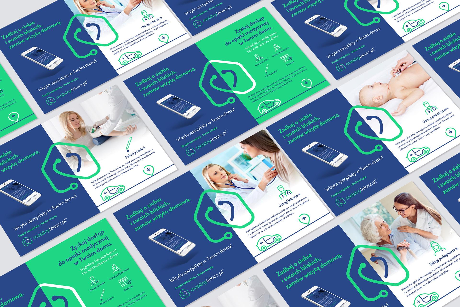 Mobilny Lekarz Identyfikacja Wizualna Plakat Poster Key Visual