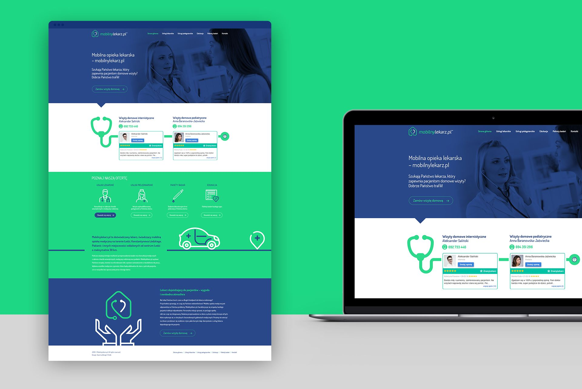 Mobilny Lekarz Strona www Website Medical Design