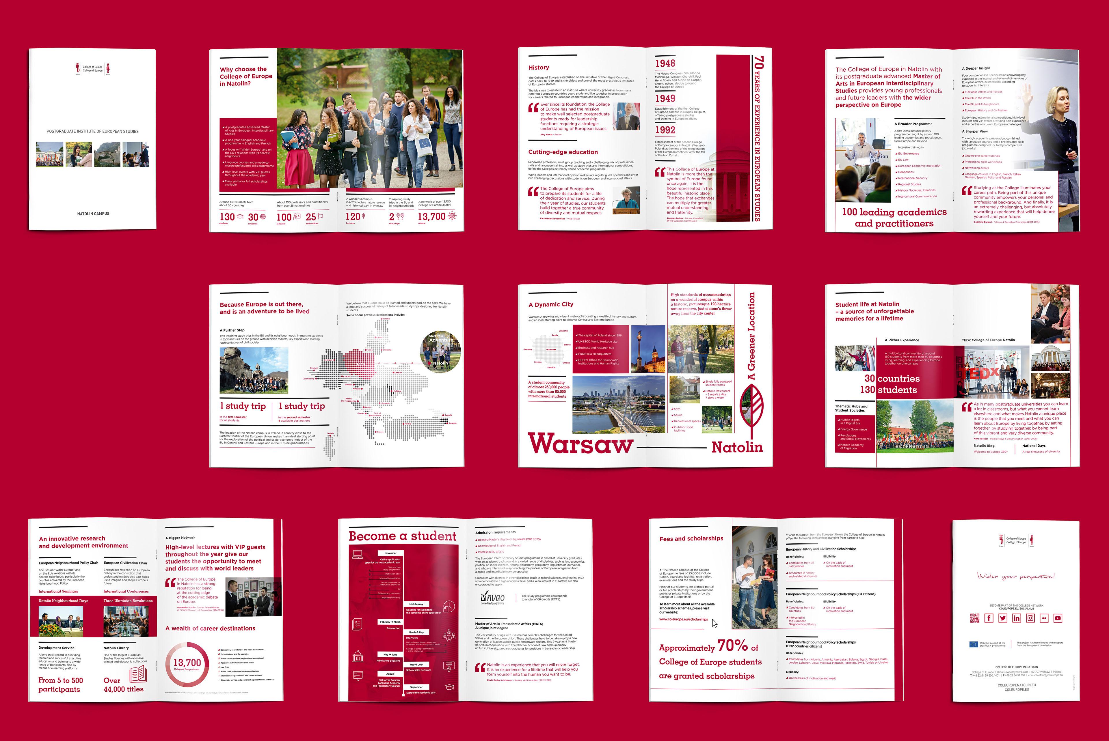 Folder Wizerunkowy Kolegium Europejskie Warszawa Natolin Kampus