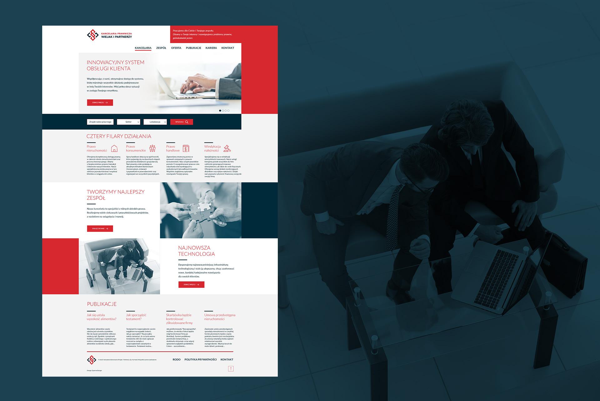 strona www kancelarii prawnej law firm website design strona www kancelarii adwokackiej