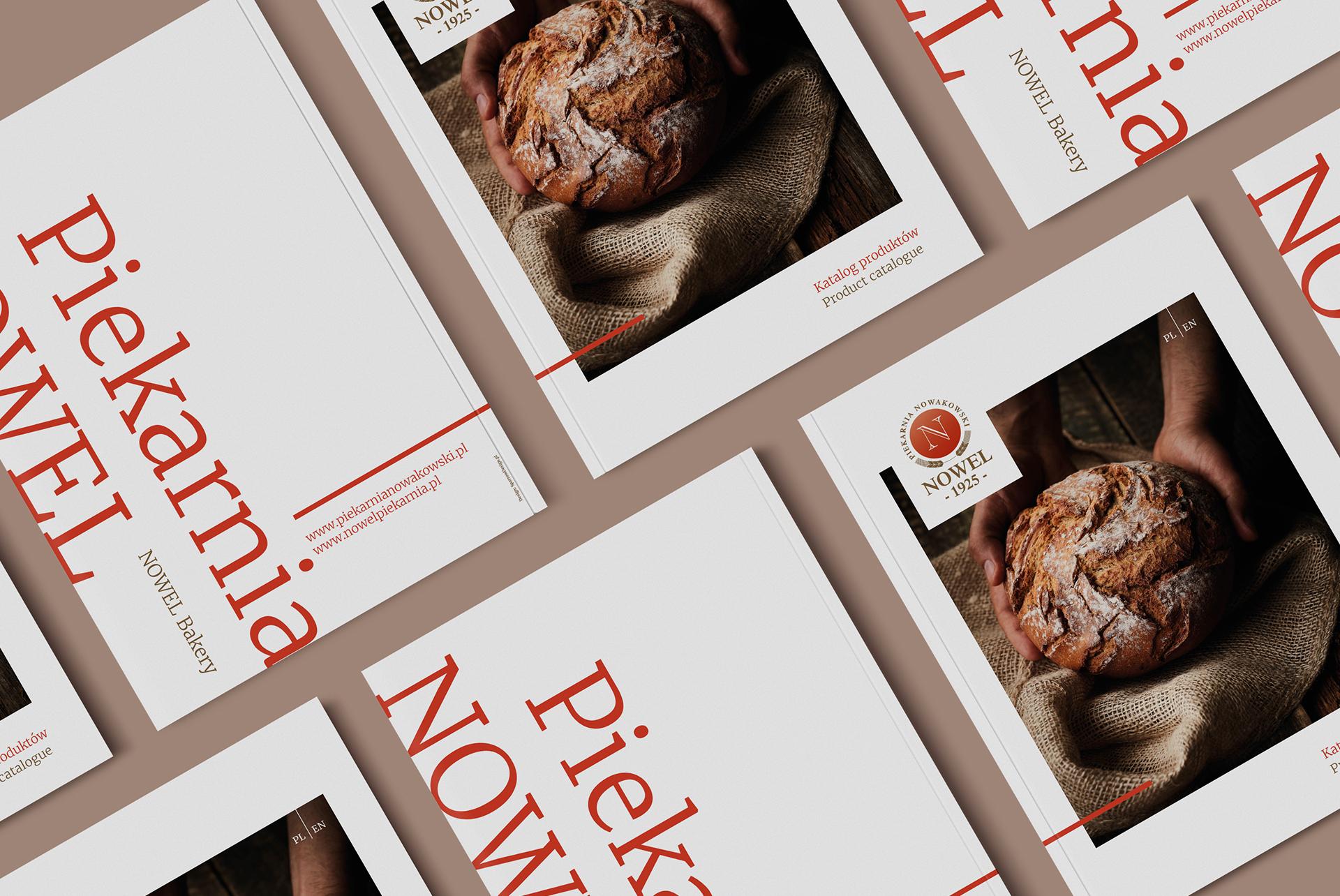 Folder wizerunkowy piekarnia Nowel