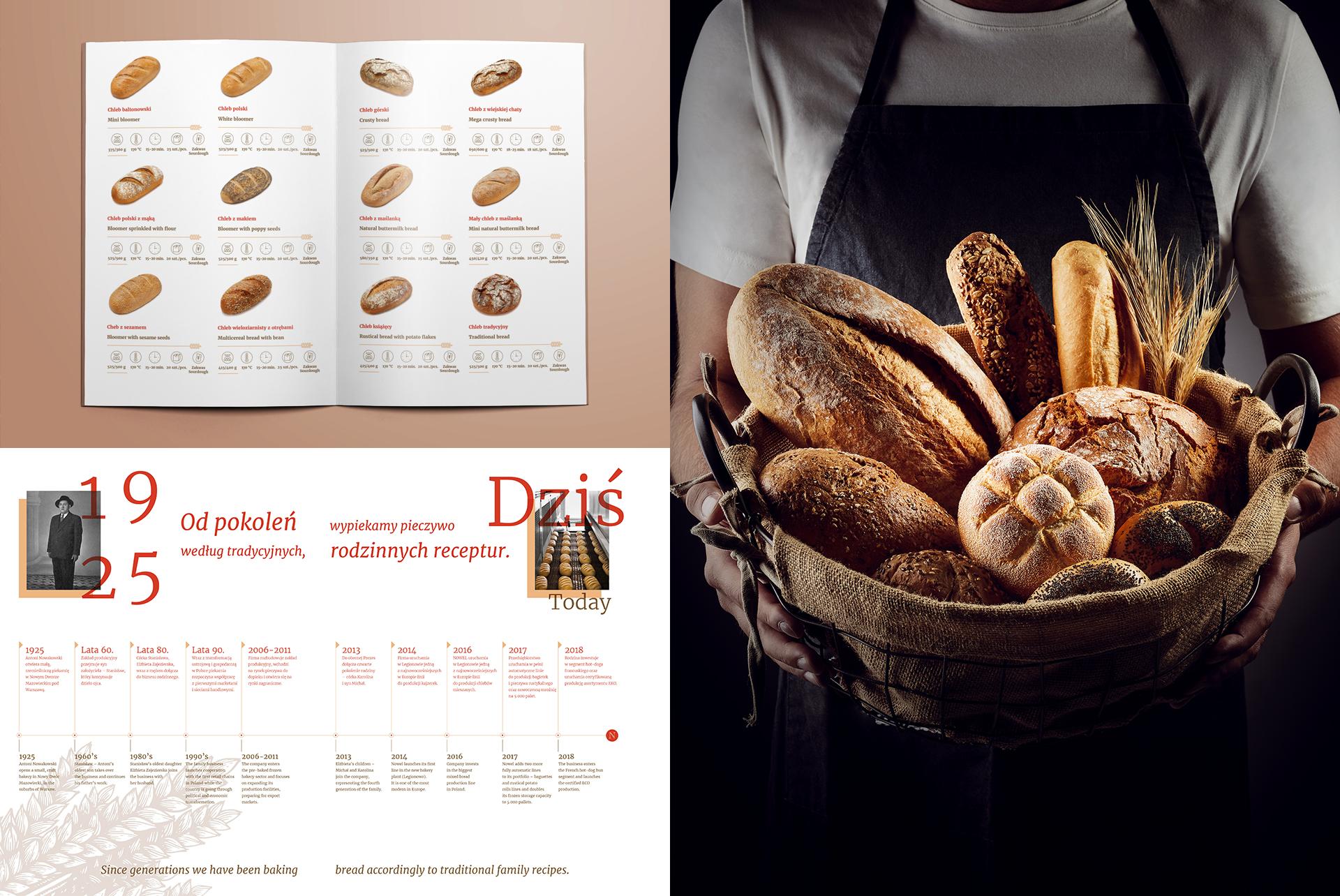 Katalog wizerunkowo produktowy piekarnia Nowel
