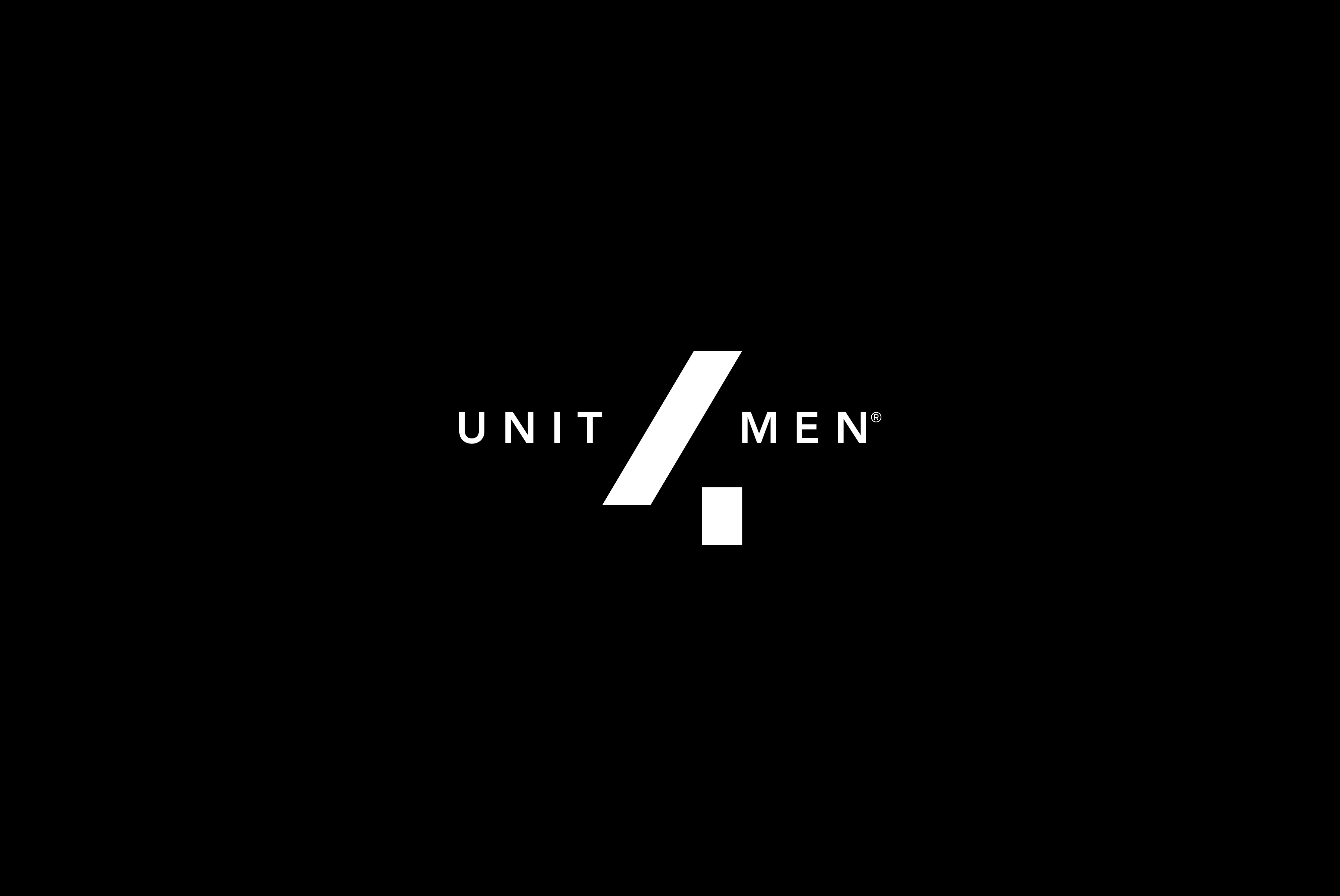 Logo Branding and Packaging for Men's Cosmetics Range UNIT4MEN