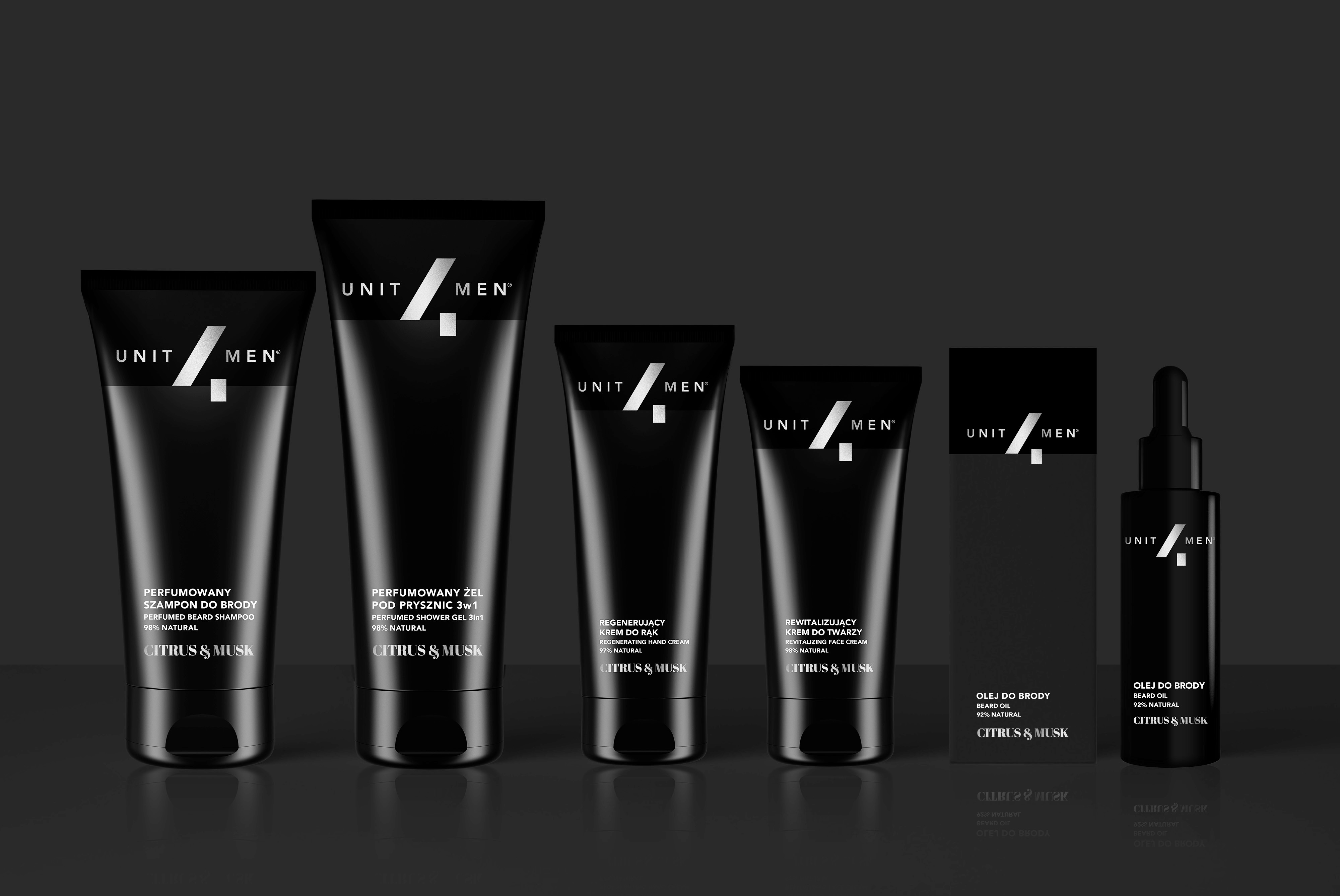 men's grooming cosmetics range UNIT4MEN