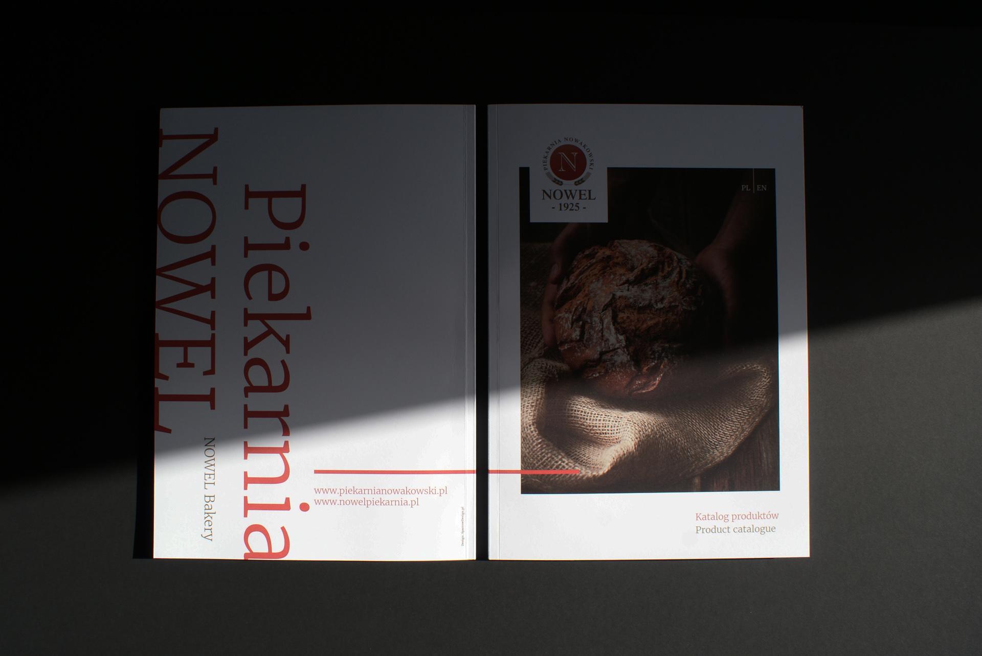 Projekt graficzny katalogu piekarni Nowel