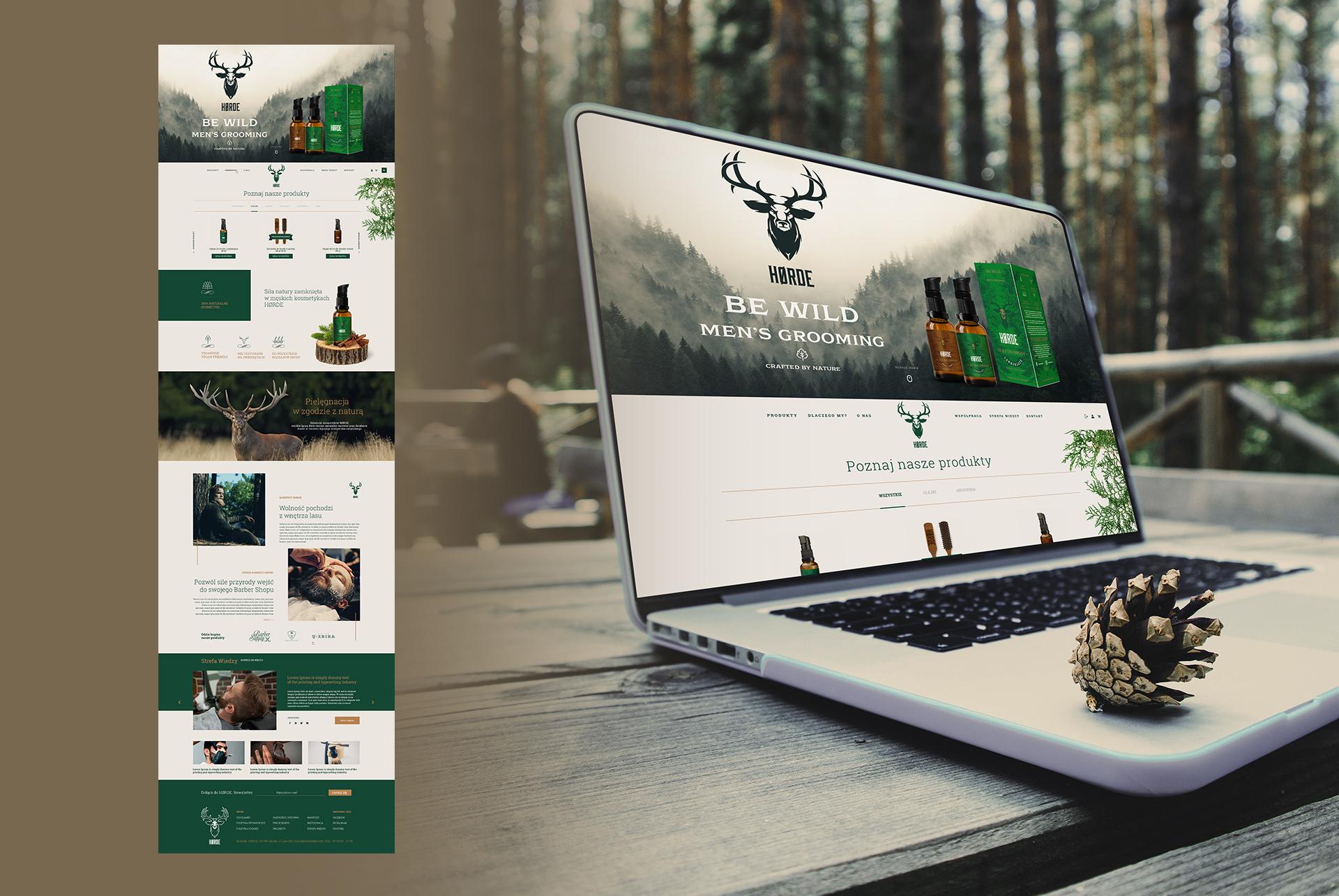 Horde Barber Web Design Branding