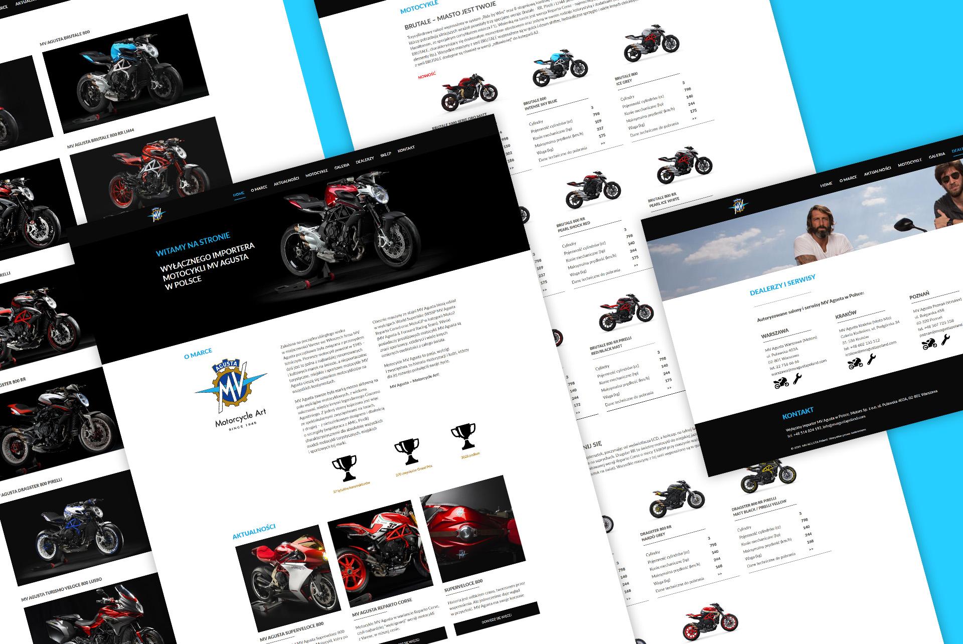Projekt graficzny strony internetowej MV AGUSTA